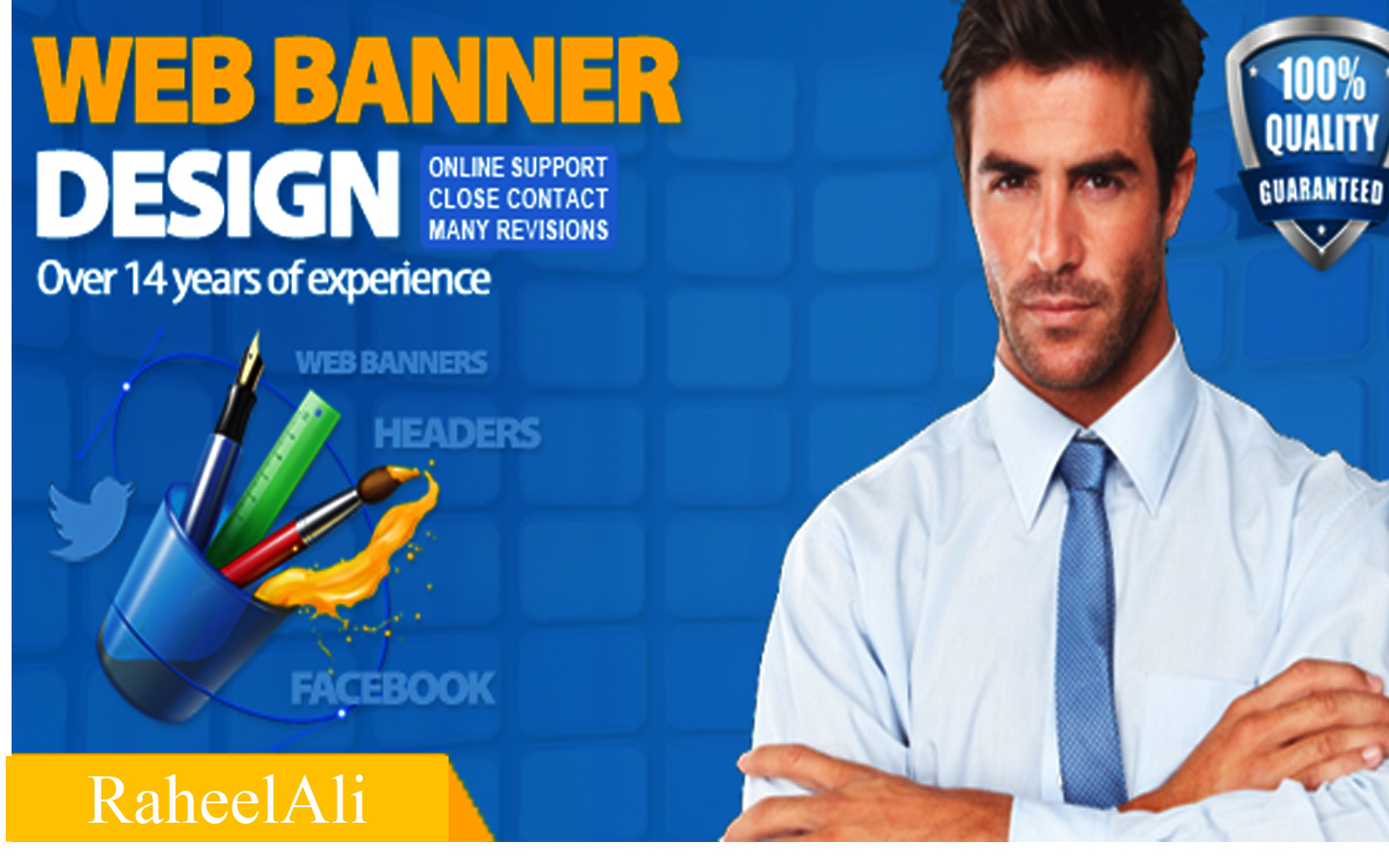 i will design a professional advertisment banner for you for 6