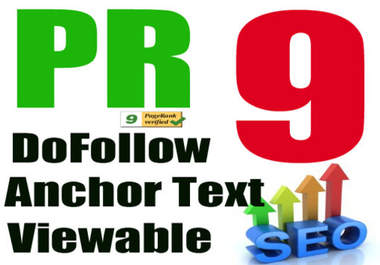I will Give your High Quality PR9 Homepage on TLD and PERMANENT