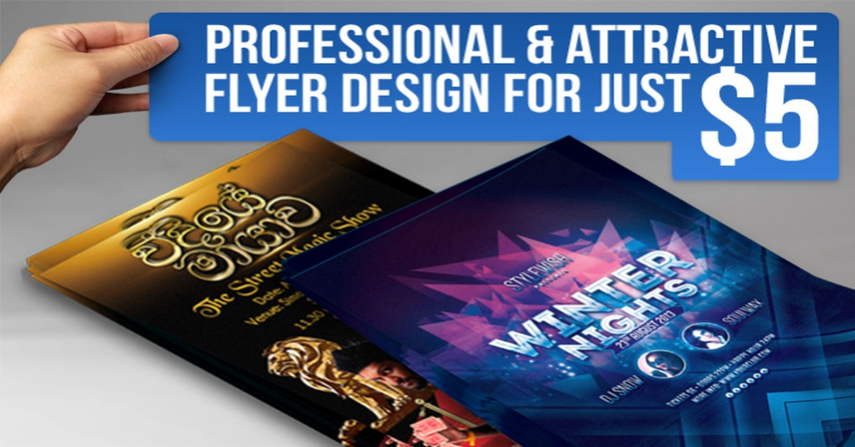 I will design an Outstanding,  Eye Catching,  Killer Flyer