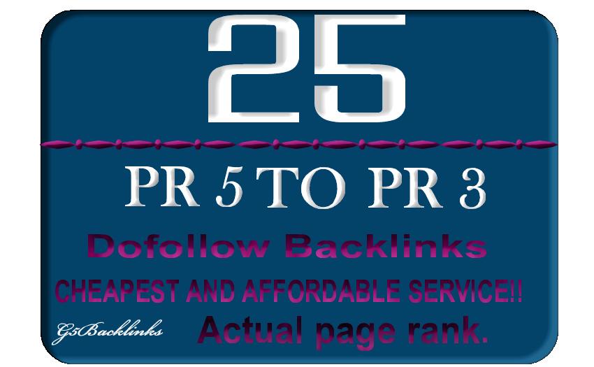 25 DoFollow Blog Comment Backlink Pr5 to PR3