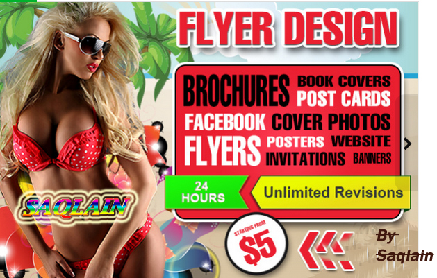 I will design AMAZING flyer,  poster,  brochure,  card
