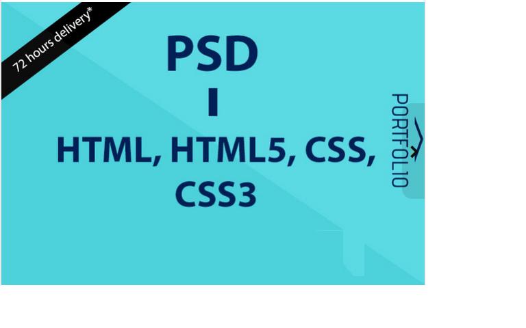 convert psd to html, html5, css, css3