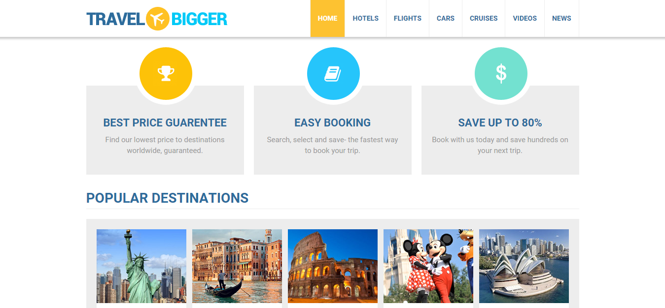 Install your own travel booking website on any domain