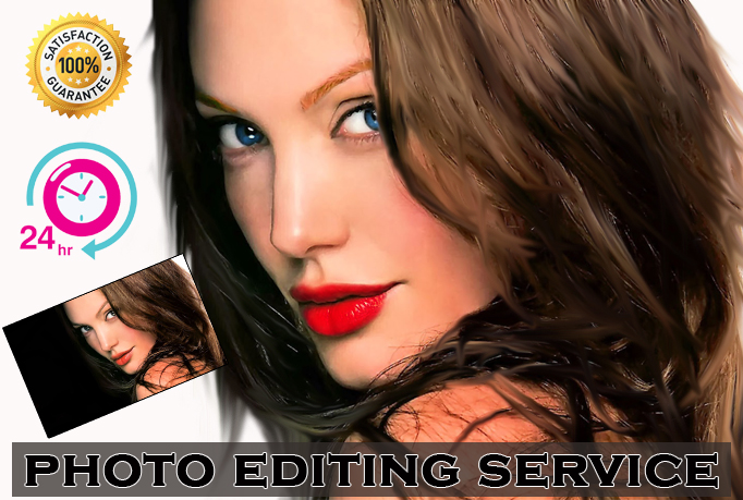 I'll do professionally PHOTOSHOP your image within 24hours