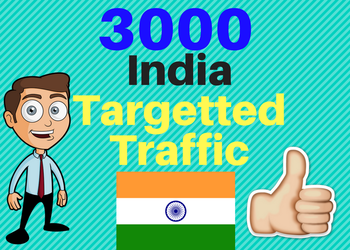 3000 INDIA TARGETED Human traffic to your web or blog site. Get Adsense safe and get Good Alexa rank