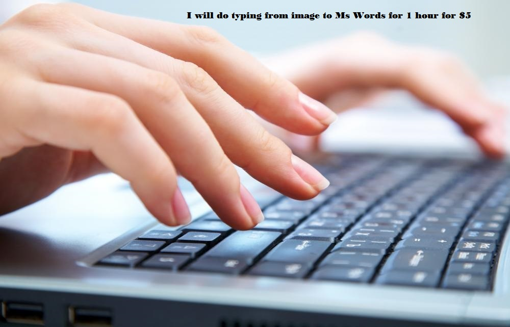 I will do typing from images to Ms Words for 1 hour