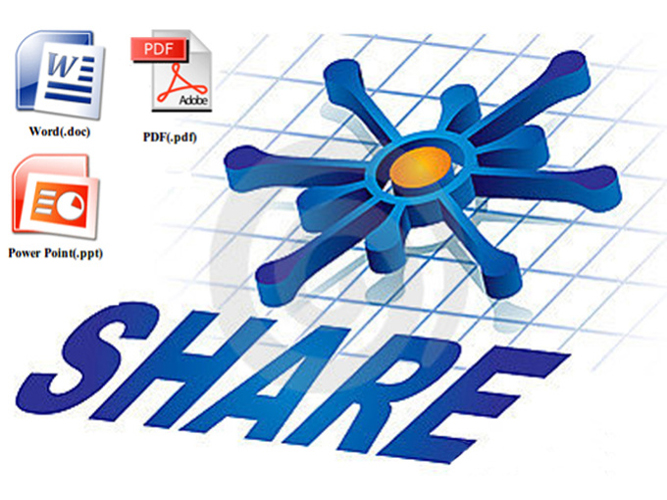 Share Pdf, Doc or Ppt file to 10 document sharing si...