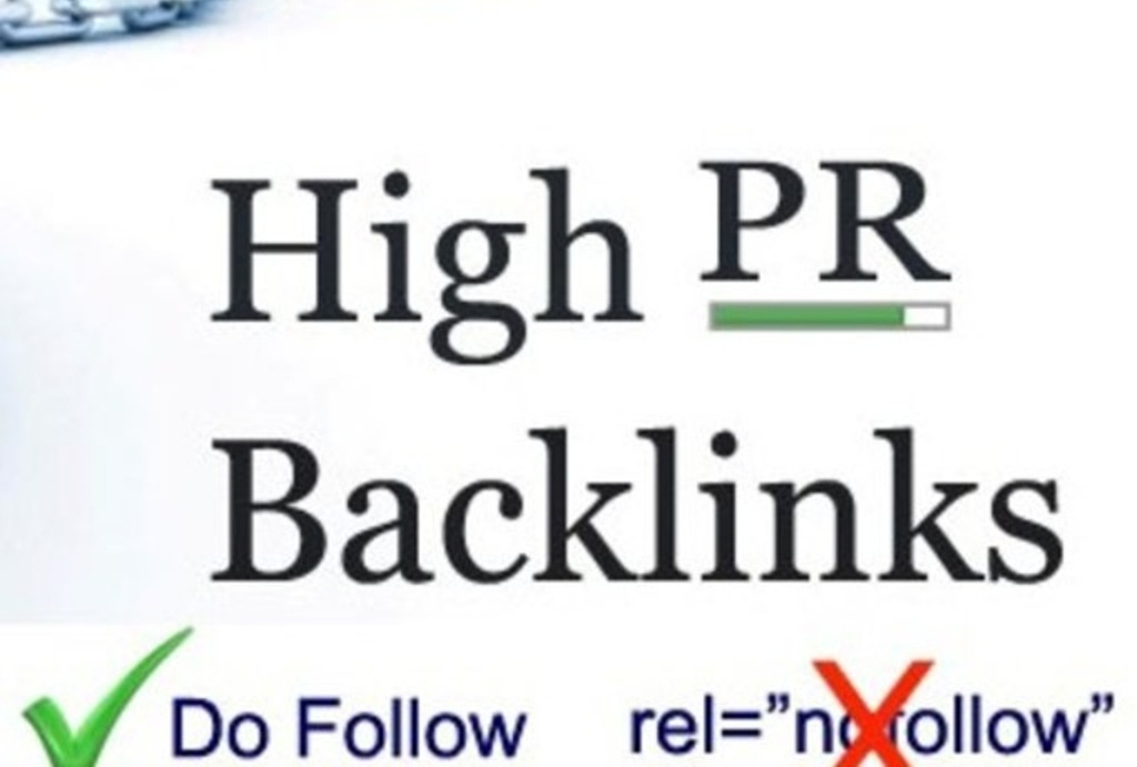 do 50 Niche relavent Backlinks PR 2 to PR 7 High PR Dofollow approved links