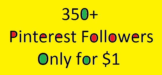 350 Pinterest followers for your page