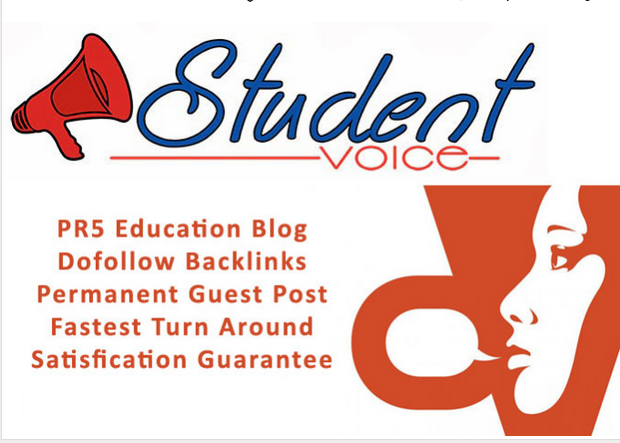 do guest post in PR5 Students Voice education blog