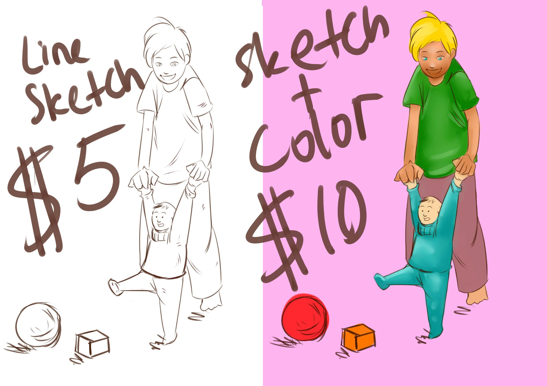 i will draw any illustration you want