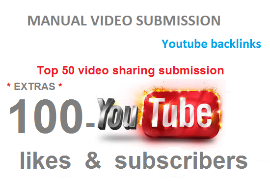 I will manually make Video submission on top 50 video sharing sites