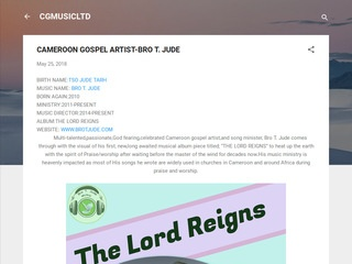 DISCOVER THE CAMEROON GOSPEL ARTIST-BRO T. JUDE