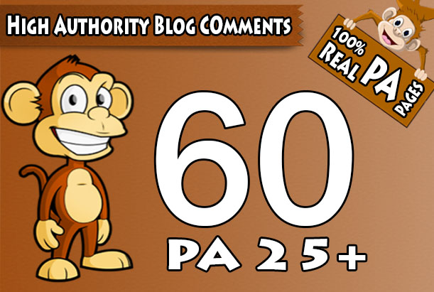 "Do 60 ""PA 25 to 70"" Dofollow Blog Comment, 100 Percent Actual High PA Pages"
