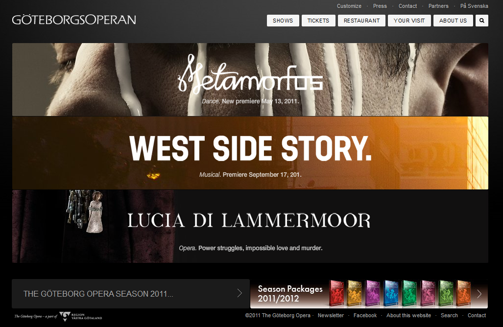 dynamic website examples