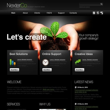 Make Professional Website To Grow Up Your Business For SEOClerks - Dynamic web template