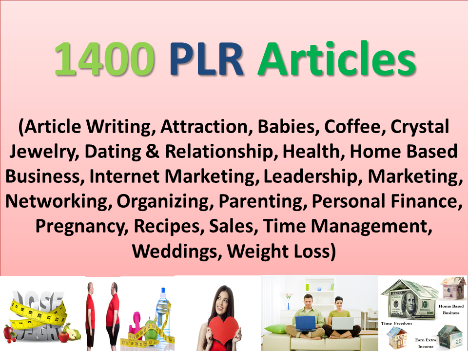 I will send You 1400 Over High Quality PLR Articles