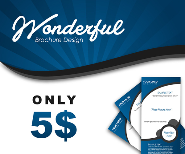 I will design AMAZING WOW brochure flyer invitation designs fast