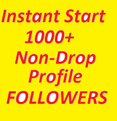 Instantly Start 1000+ High Quality Profile Followers Fully Safe