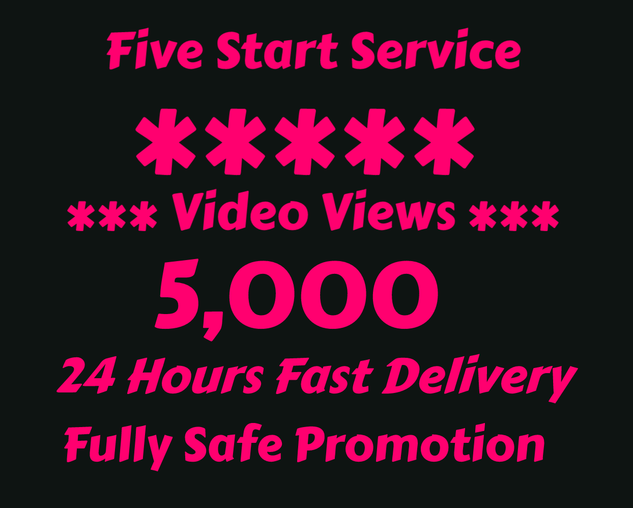 5000+ views promotion for only $7
