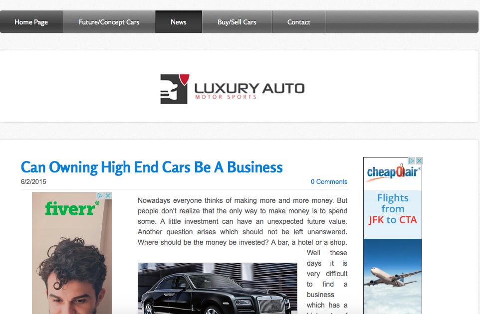 Guest Blog Post On Automotive Blog