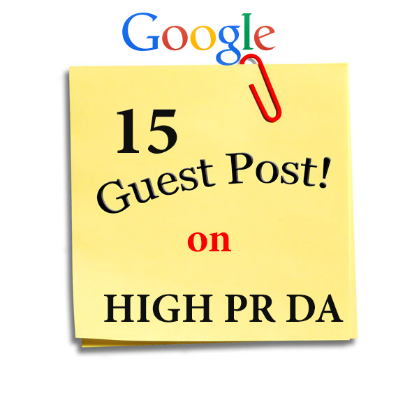 15 Guest Posts on PR6,  PR5,  PR4,  PR3, PR2, PR1 and DA49 with 2 dofollow backlinks