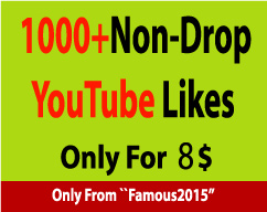 1000+ Non-Drop YouTube Likes Instant Start