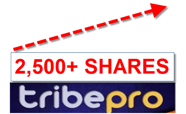 promote ONE of your links using TribePro url will be shared over 117 Plus times