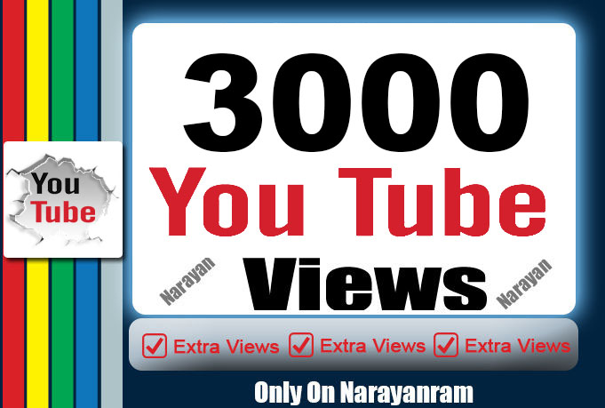 3000 To 4000 Youtube views High Retention