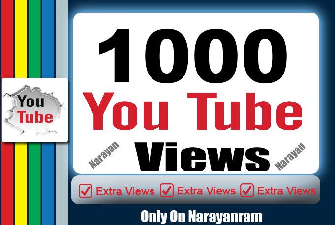 Get 1000 High QualityYouTube Vie'ws