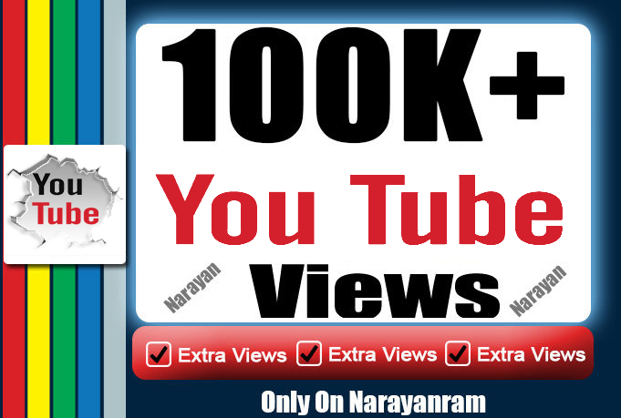 100000 (100k) Safe Quality YouTube Views Super Fast Delivery
