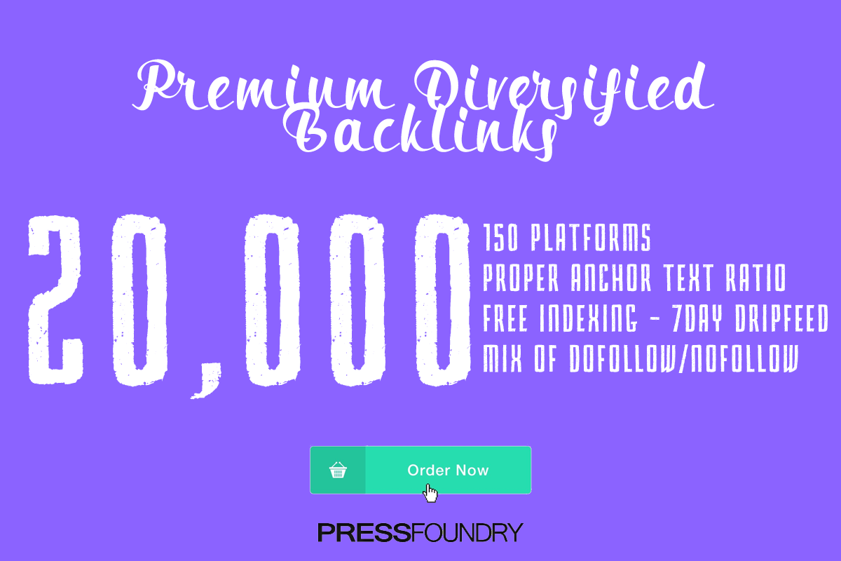 20,000 Premium Diversified Backlinks