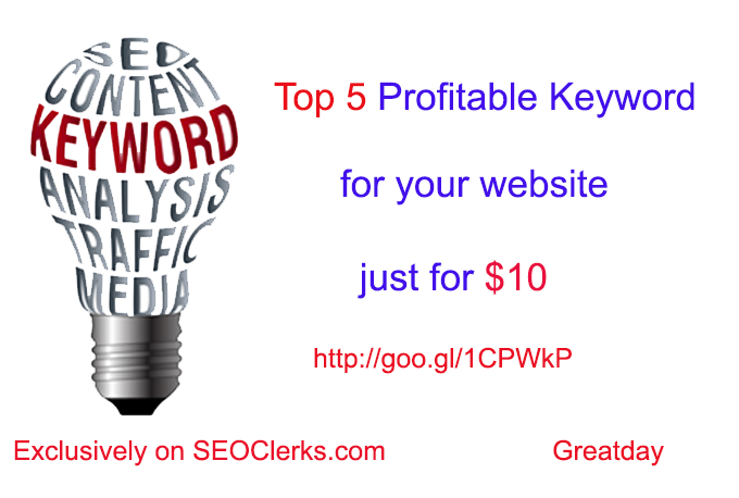 Do Keyword Research to find Top 5 words