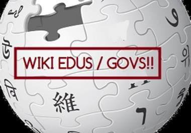 Create 1 Gov WIKI Backlinks PagerRank 5
