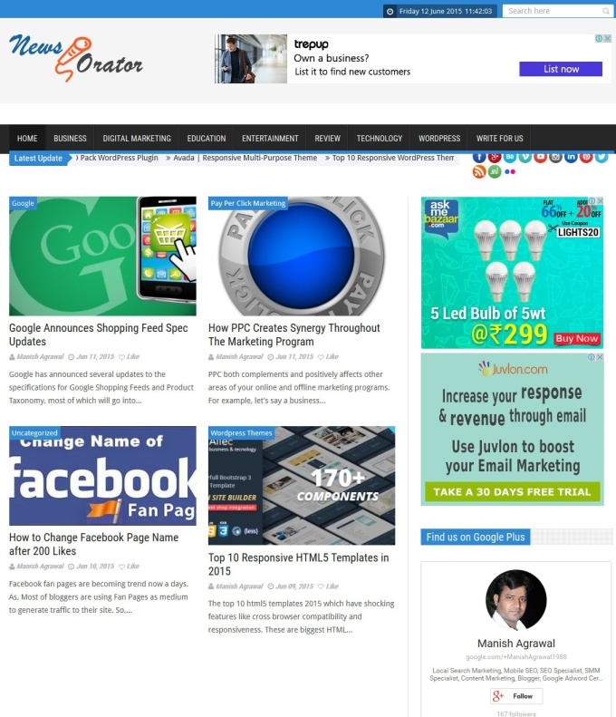 I will publish Your Article on My 3 PR Blog and Share in Social Sites