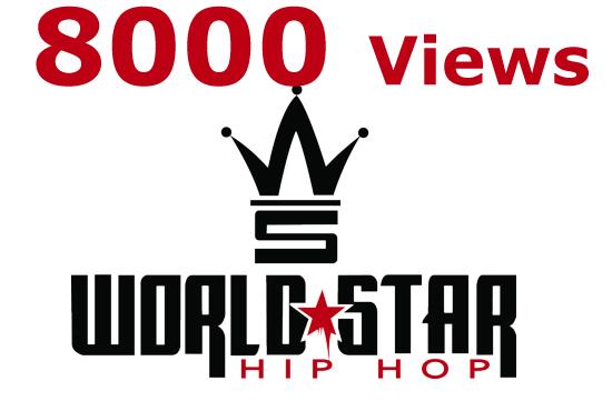 I will provide 10000 UNIQUE Views Worldstarhiphop