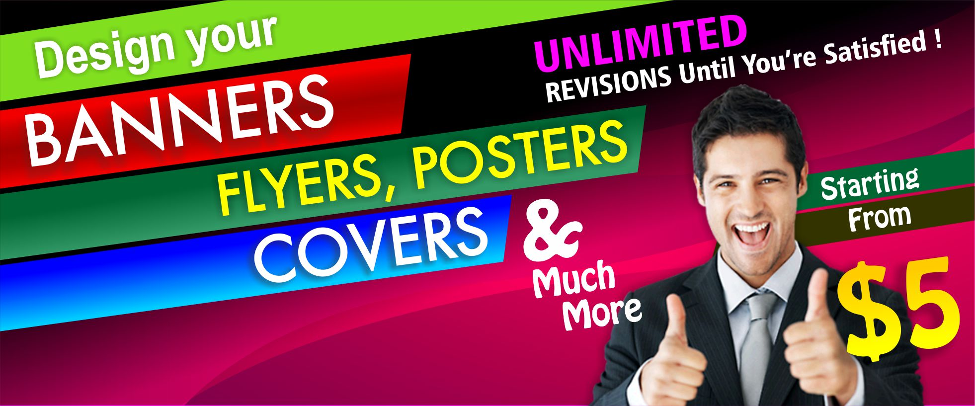 I will create professional banners for you social media.