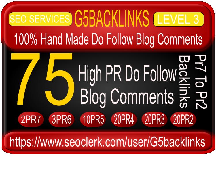 build Manually 75 PR2 To PR7 blog comments high pr BACKLINKS