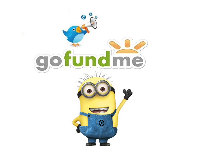 promote GoFundMe crowdfunding campaign to 100K Twitter FoIIowers