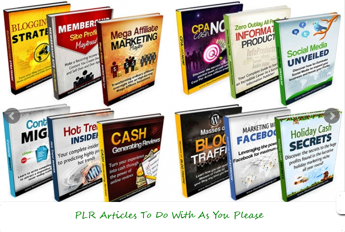 I will give you 75 High Quality PLR articles on internet marketing for