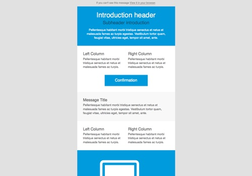 Create Modern and Professional Mail Template for $5 - SEOClerks