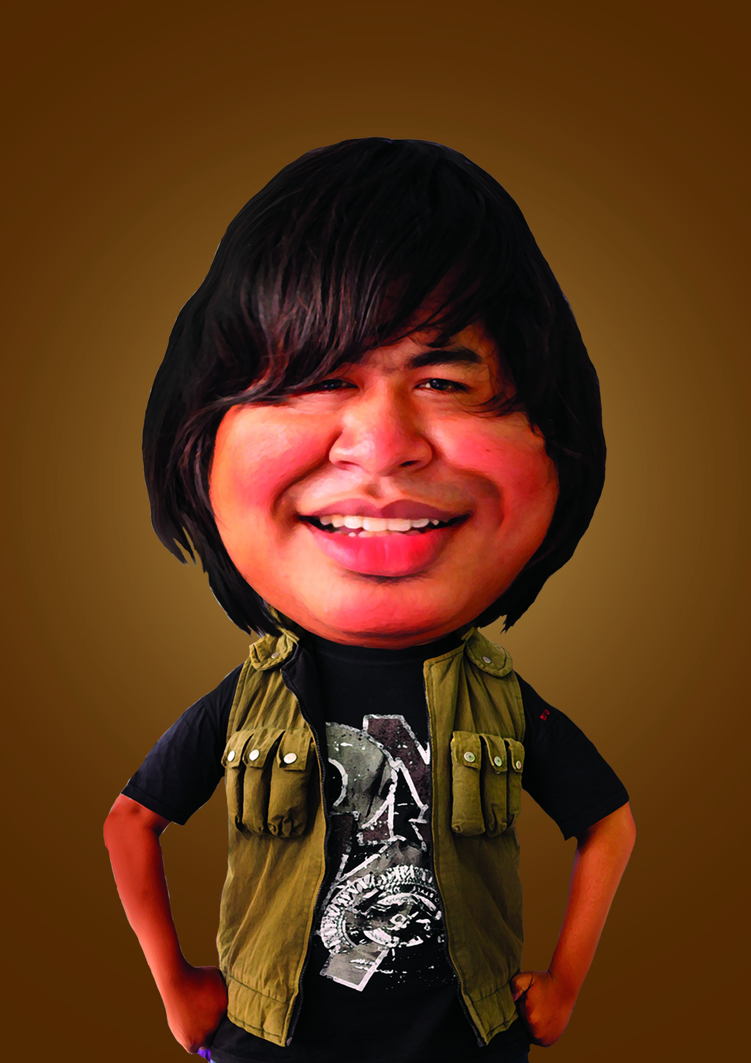 I will make digital realistic caricatur From Your Photo