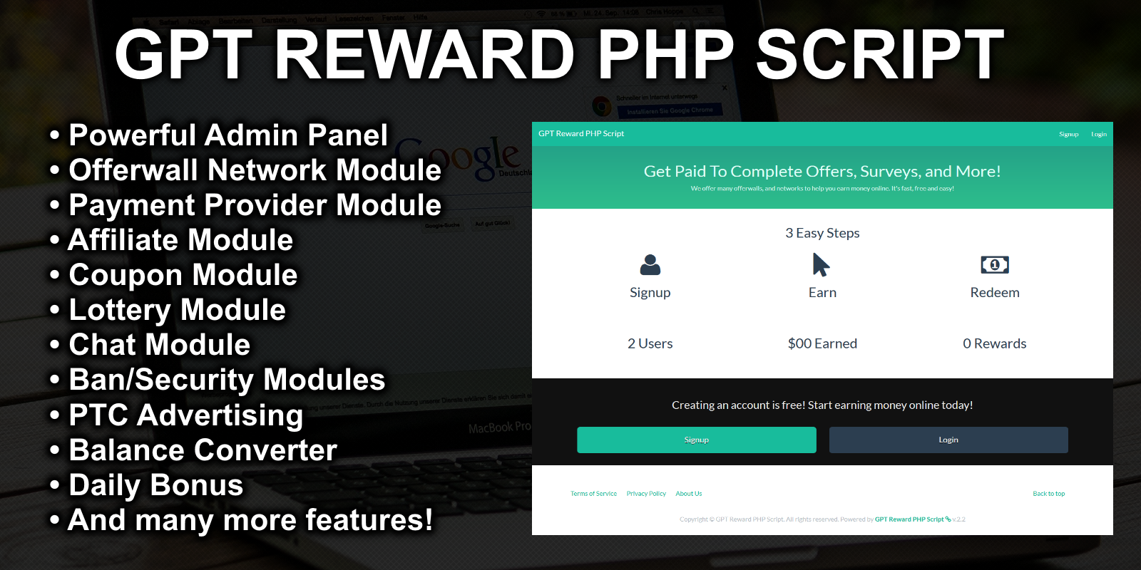 Create a GPT website with GPT Reward PHP Script
