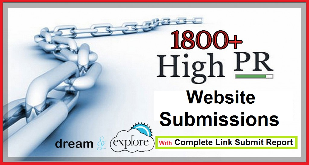 I will submit you website or blog to 1800 plus high PR websites Manually