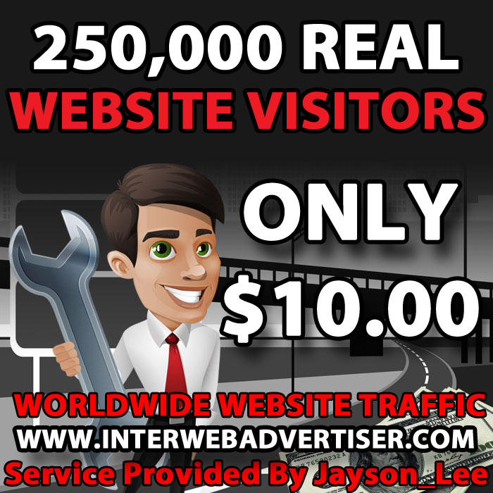 250K Web Traffic To Your Website, Blog or Affiliate Link