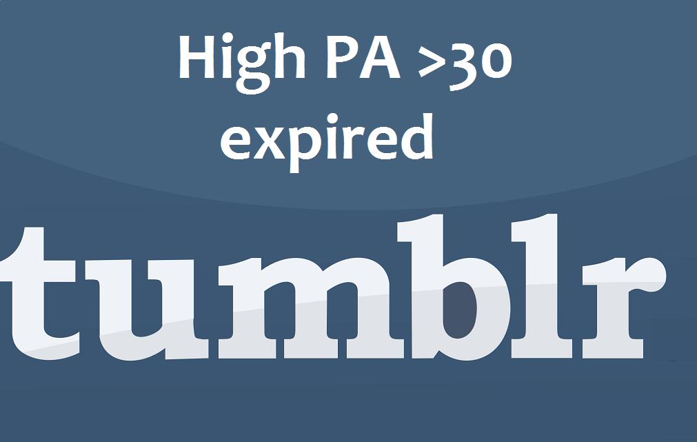 Expired Tumblrs Paradise,  4 high PA tumblrs