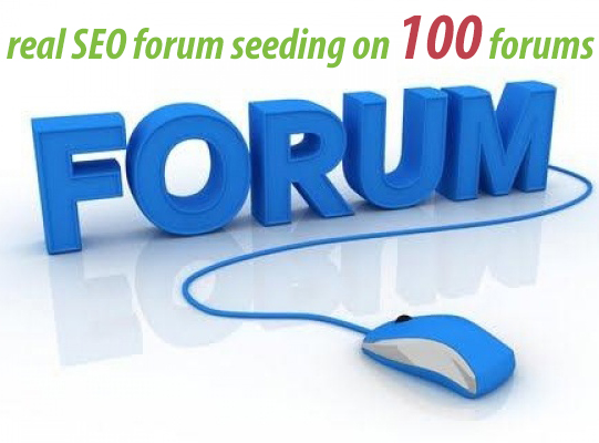 Manual forum seeding with 100 forums. Real SEO with just