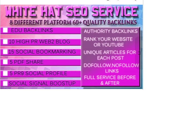 provide Ultimate White Hat SEO Service for website,youtube