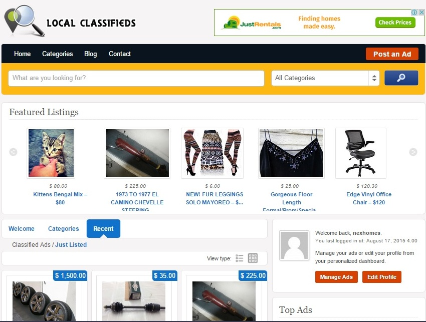 Install Classified Website to your hosting for 10