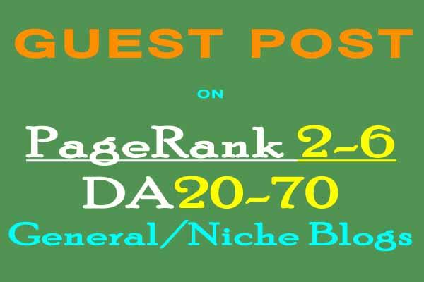 Guest Posting Service on High PR/DA Blogs